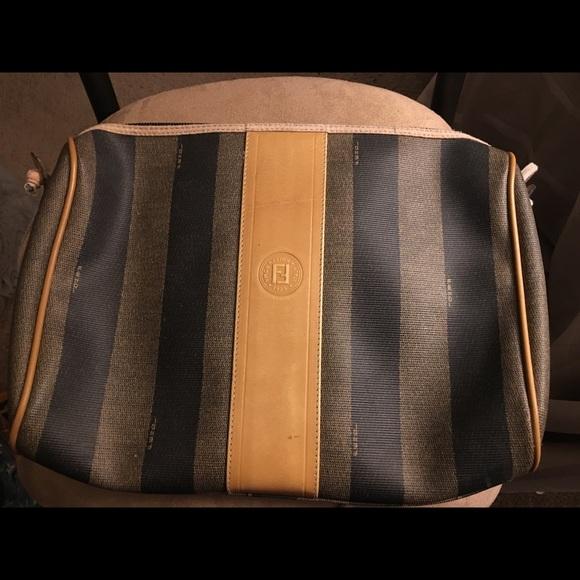 8bbfe8c2f9 Fendi Handbags - Authentic Vintage Fendi Roma Italy Striped Bag